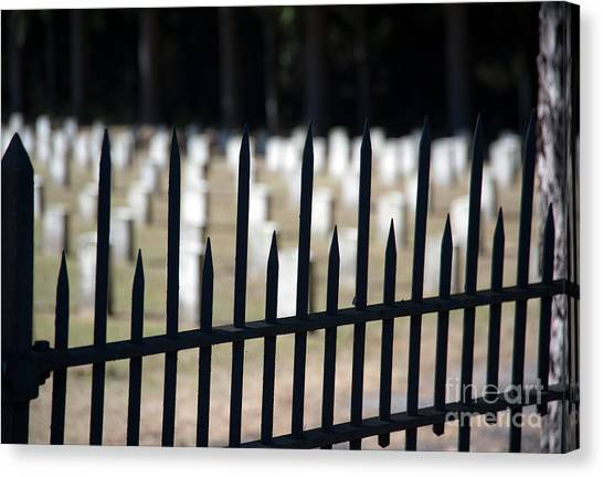 Sackets Harbor Military Cemetery Canvas Print by Fred Lassmann