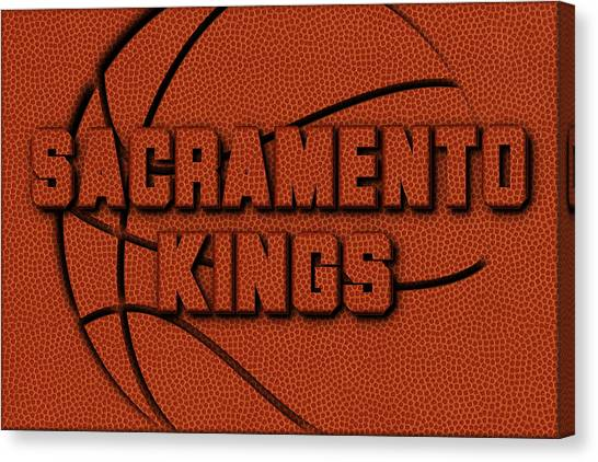 Sacramento Kings Canvas Print - Sacramento Kings Leather Art by Joe Hamilton