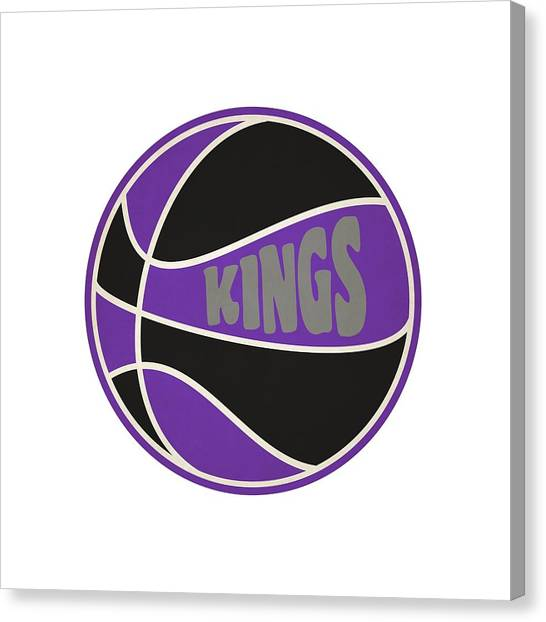 Sacramento Kings Canvas Print - Sacramento Kings Retro Shirt by Joe Hamilton