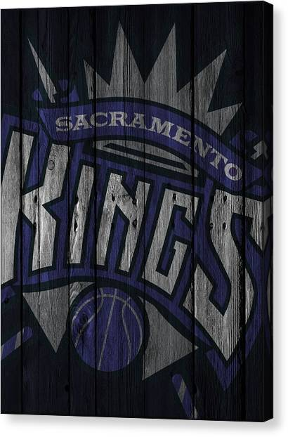 Sacramento Kings Canvas Print - Sacramento Kings Wood Fence by Joe Hamilton