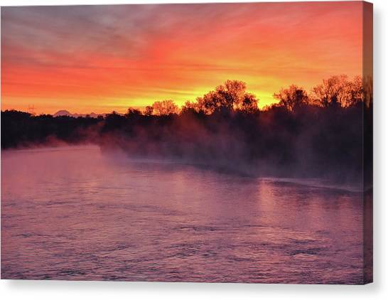 Sacramento River Sunrise Canvas Print