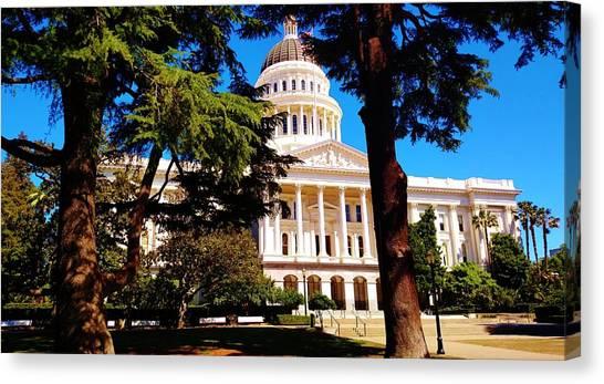 Sacramento State Canvas Print - Sacramento State Capitol Building by Peggy Leyva Conley