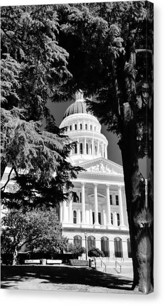 Sacramento State Canvas Print - Sacramento State Capitol Of California by Peggy Leyva Conley