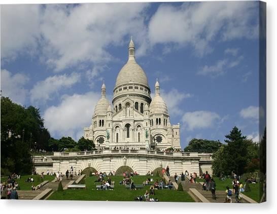 Sacre Coeur  Paris France Canvas Print by Matthew Kennedy