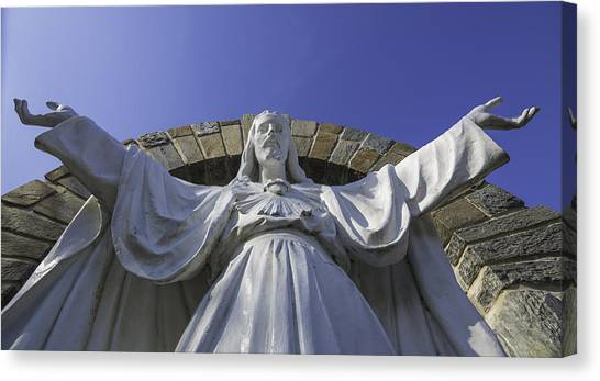 Loyola University Chicago Canvas Print - Sacred Heart Of Jesus by Greg Thiemeyer