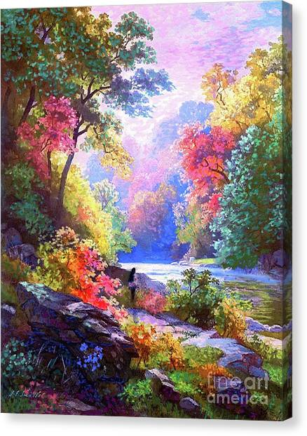 Sacred Canvas Print - Sacred Landscape Meditation by Jane Small