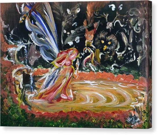 Sacred Pool 2 Canvas Print