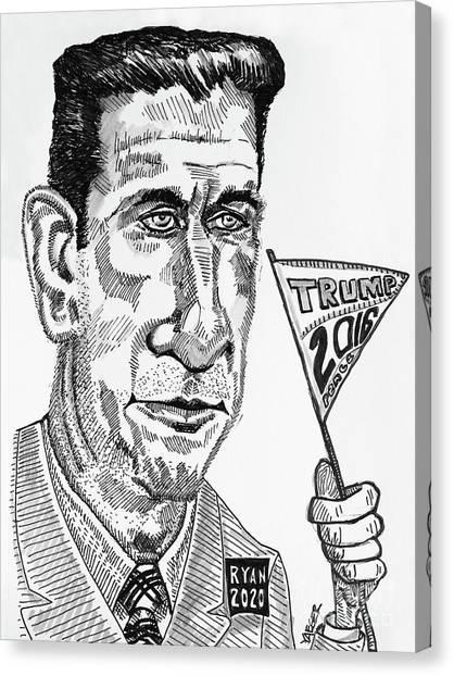 Paul Ryan Canvas Print - Sacrifice And Aspirations by Robert Yaeger