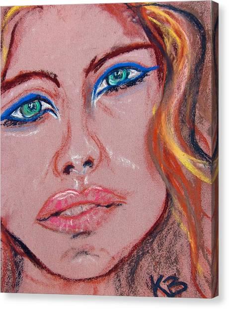 Sad Blue Eyes-framed Canvas Print