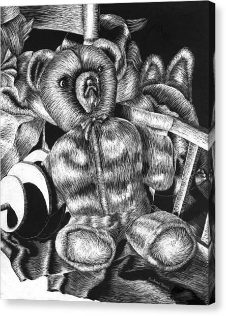 Canvas Print - Sad Teddy by Rich Travis