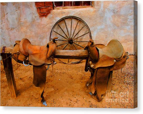 Saddle Town Canvas Print