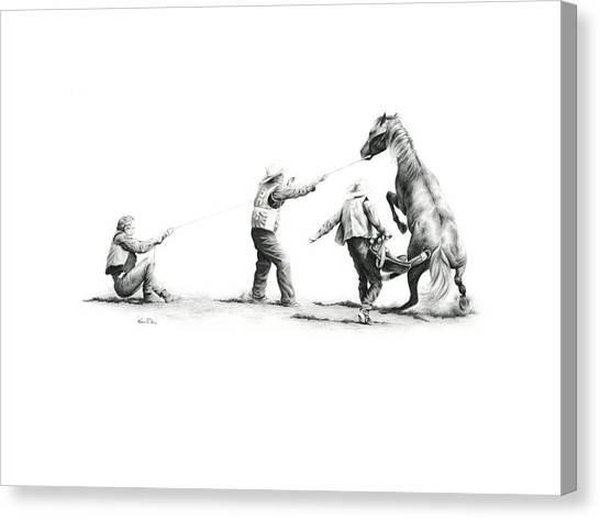 Saddle Up Canvas Print by Karen Elkan