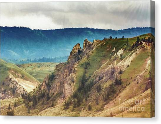Saddlerock Mountain Canvas Print by Jean OKeeffe Macro Abundance Art