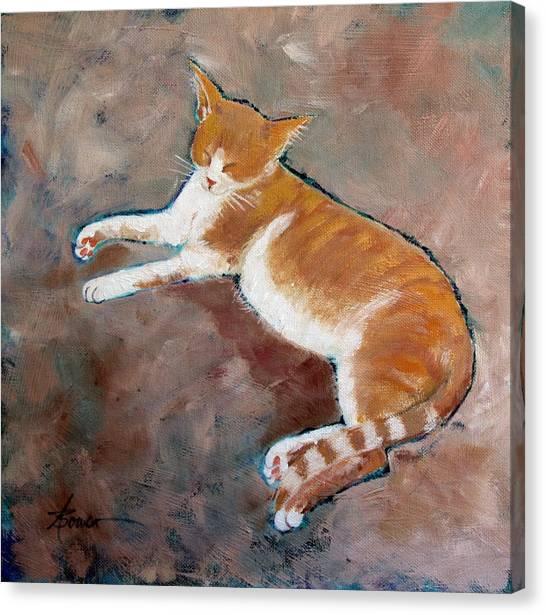 Saddle Tramp- Ranch Kitty Canvas Print