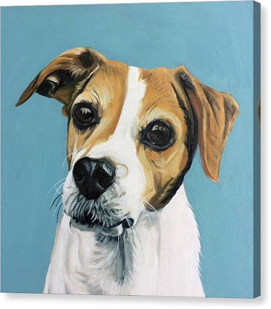 Canvas Print featuring the painting Sadie by Nathan Rhoads