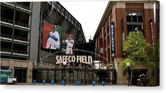 Seattle Mariners Canvas Print - Safeco Field by Caroline Reyes-Loughrey