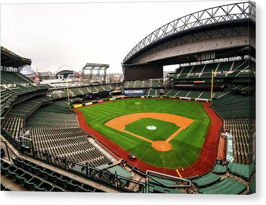 Seattle Mariners Canvas Print - Safeco Field - Home Of The Mariners by Hyun Jae Park