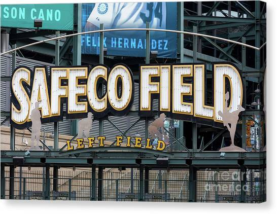 Seattle Mariners Canvas Print - Safeco Field by Jerry Fornarotto