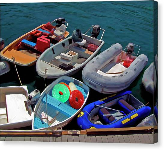 Dinghy Canvas Print - Safety First by Snake Jagger