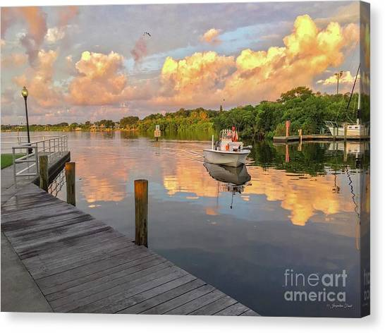 Safety Harbor Fisherman  Canvas Print