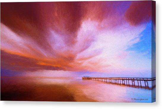 Long Wharf Canvas Print - Safety Harbor by Marvin Spates