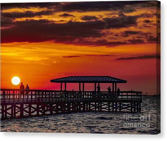 Safety Harbor Sunrise Canvas Print