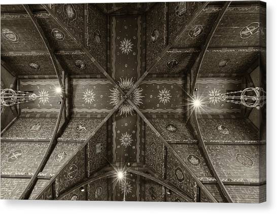 Cornell University Canvas Print - Sage Chapel Ceiling #2 - Cornell University by Stephen Stookey