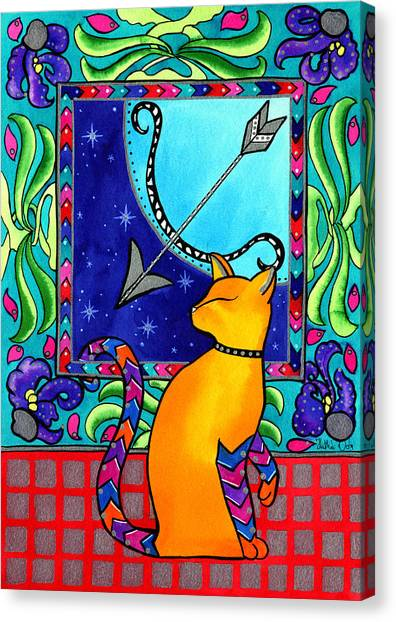 Sagittarius Cat Zodiac Canvas Print