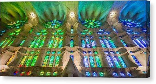 Sagrada Familia Northeast Wall Barcelona Canvas Print