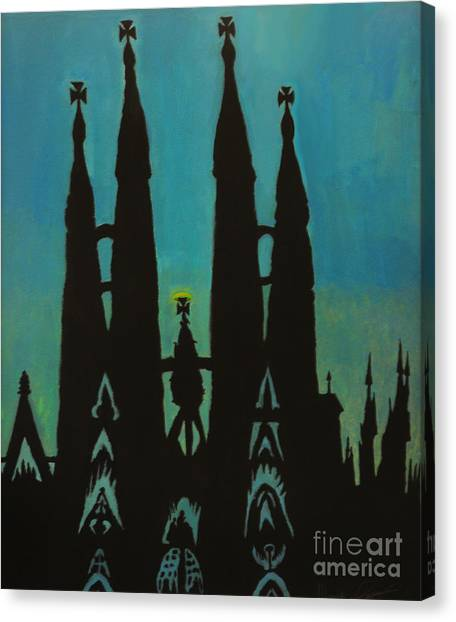 Sagrada Shadows Canvas Print