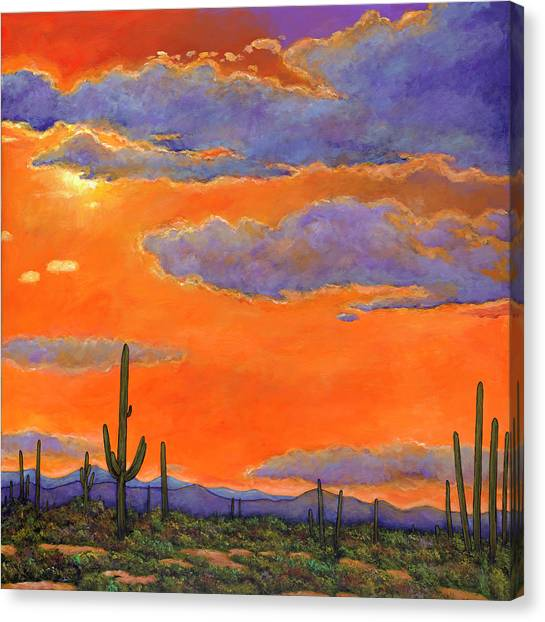 Phoenix Canvas Print - Saguaro Sunset by Johnathan Harris