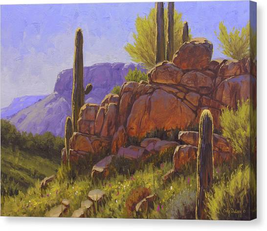 Cactus Canvas Print - Saguaro Sunshine by Cody DeLong