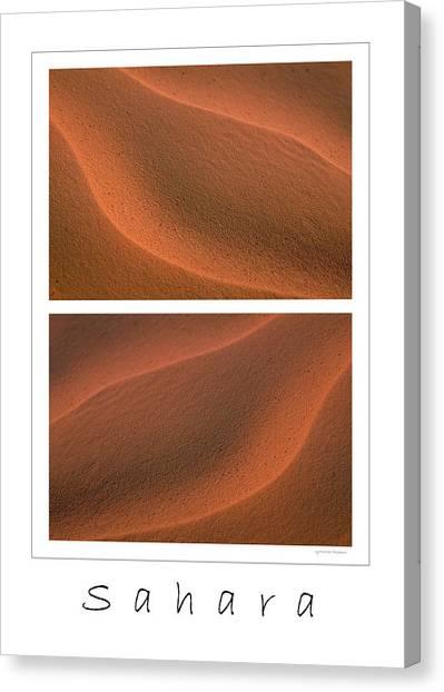 Sandy Desert Canvas Print - Sahara by Michael Mogensen