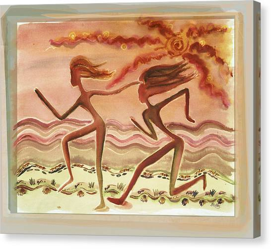 Saharan Runners Canvas Print