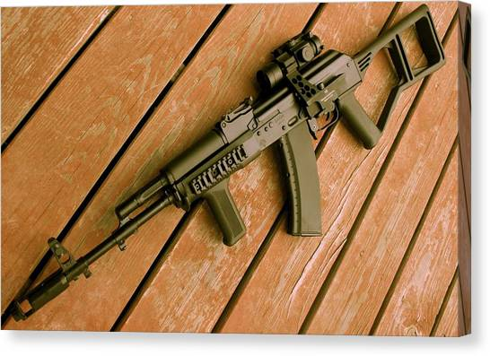 Rifles Canvas Print - Saiga Ak-74 by Super Lovely
