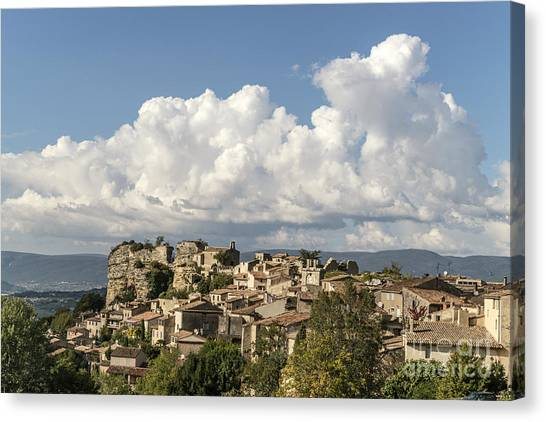 Canvas Print featuring the photograph Saignon Village Provence  by Juergen Held