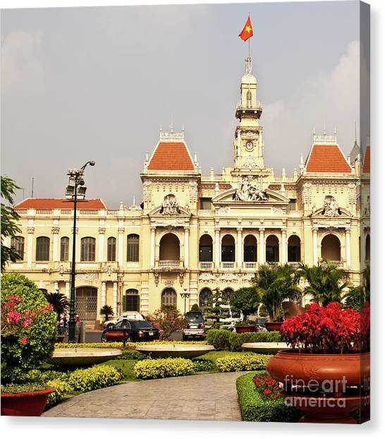 Canvas Print - Saigon People's Committee Building 01 by Rick Piper Photography