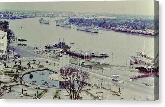 Saigon River, Vietnam 1968 Canvas Print