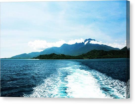 Andreas Gursky Canvas Print - Sail Away Blue by Sharmaigne Foja