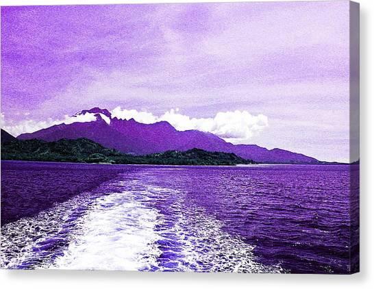 Andreas Gursky Canvas Print - Sail Away Purple by Sharmaigne Foja