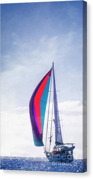 Canvas Print featuring the photograph Sail Away by Scott Kemper
