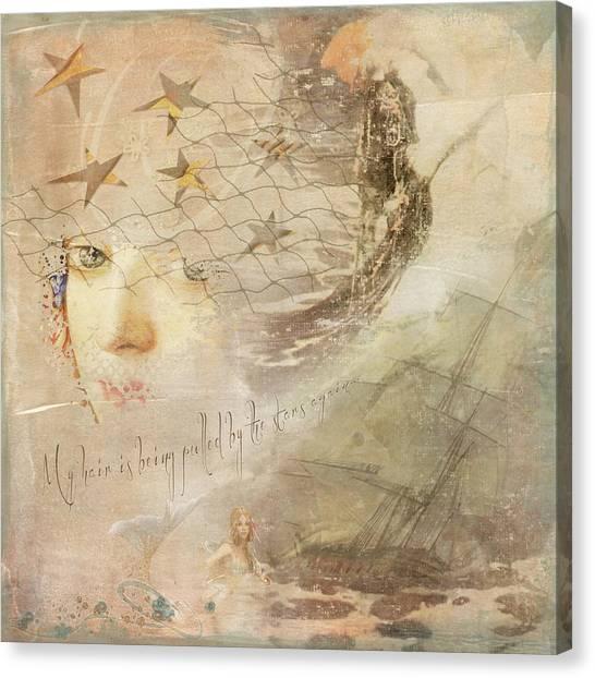 Canvas Print featuring the digital art Sail Away by Sue Collura