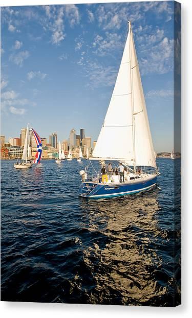 Sail Away Canvas Print by Tom Dowd