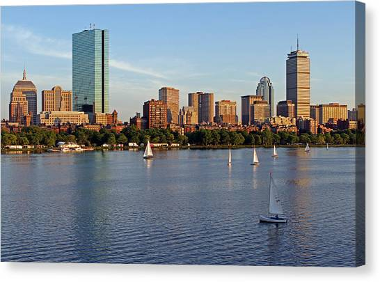 Sail Boston Canvas Print