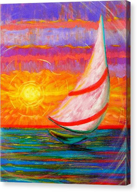 Canvas Print featuring the painting Sailaway by Jeanette Jarmon