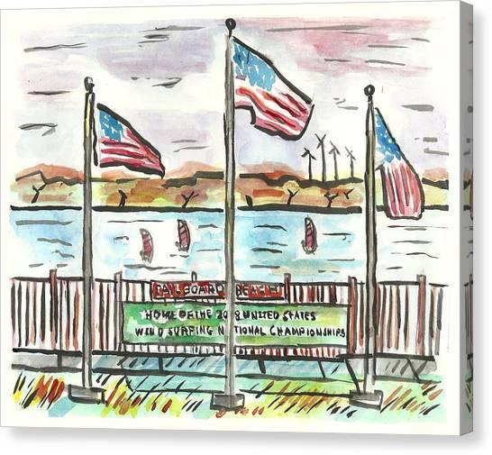Sailboard Beach Canvas Print