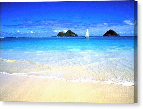 Sailboat And Islands Canvas Print