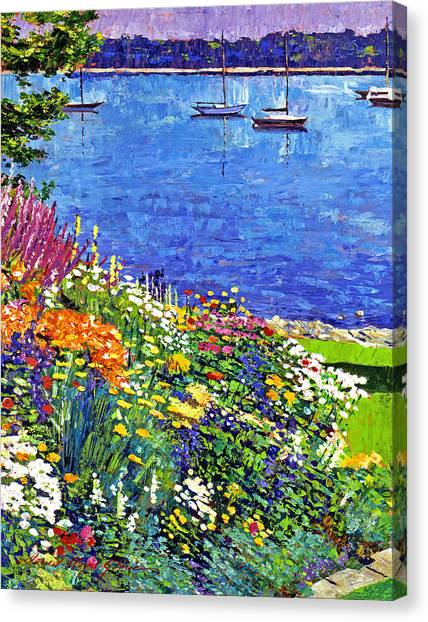 Sailboat Bay Garden Canvas Print
