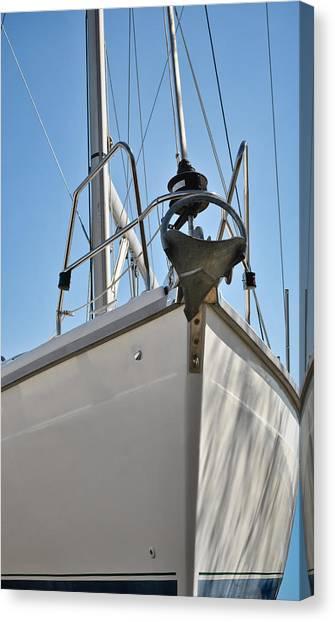 Sailboat Bow 3 Canvas Print