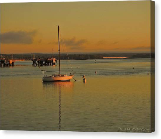 Sailboat Glow Canvas Print
